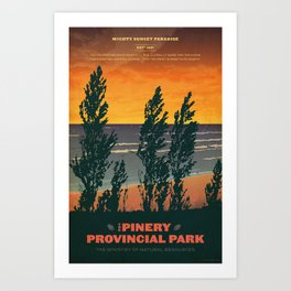 Pinery Provincial Park Poster Art Print