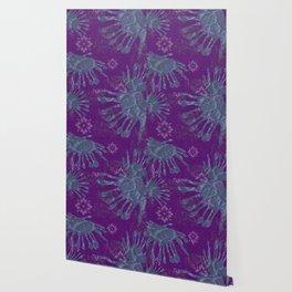 African Daisy Batik Wallpaper