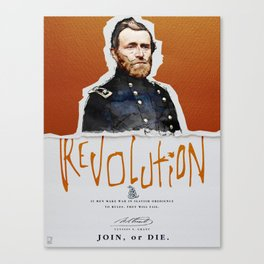 Ulysses S. Grant, Revolution, Join Or die Canvas Print