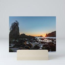 Sunburst at the Beach Mini Art Print