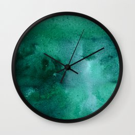 turquoise haze Wall Clock
