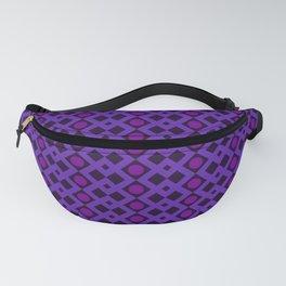 Geometric Design - Purple and Magenta - Diamonds Circles Squares Fanny Pack