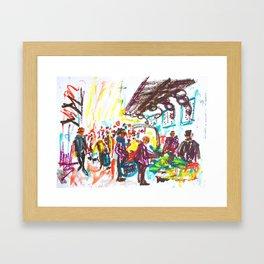 Al mercat Framed Art Print