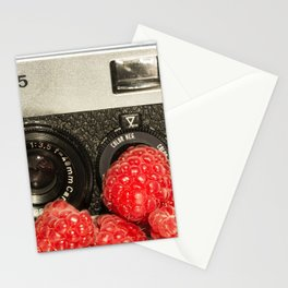 Raspberry Rollei Stationery Cards