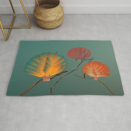 Origami Forest Birds  Rug
