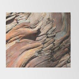 Eucalyptus tree bark texture Throw Blanket