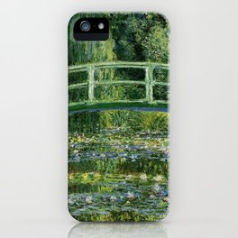 Water Lilies And The Japanese Bridge Claude Monet iPhone Case