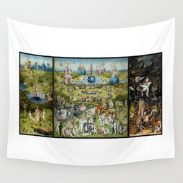 The Garden of Earthly Delights by Hieronymus Bosch (1490-1510) Wall Tapestry