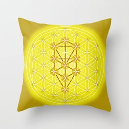 Flower of Life - Solar Plexus Throw Pillow
