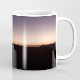 monte baldo garda lake italy drone shot aerial view sunset mountains dust path clouds star Coffee Mug