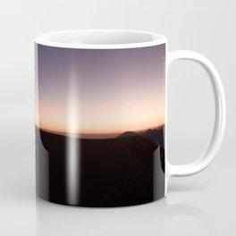 monte baldo garda lake italy drone shot aerial view sunset mountains dust path clouds star Coffee Mug