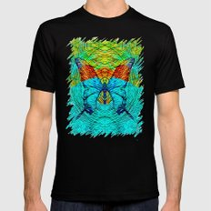 butterfly Black Mens Fitted Tee MEDIUM