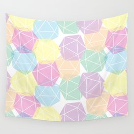 Pastel D20 Pattern Dungeons and Dragons Dice Set Wall Tapestry
