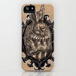 Rabbit Portrait iPhone Case