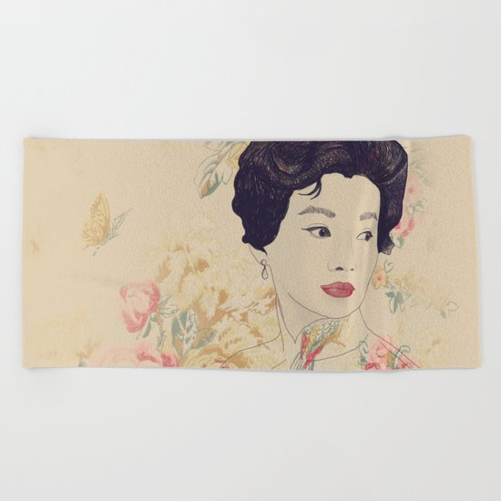 Mrs. Chan Beach Towel