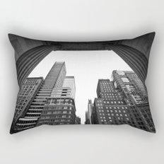 New York under the rain Rectangular Pillow