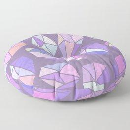 purple pink gem pattern Floor Pillow
