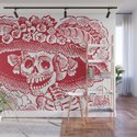 Calavera Catrina | Skeleton Woman | Red and White | by eclecticatheart