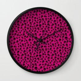 Death Lepard Pink Wall Clock