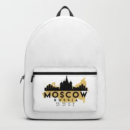 MOSCOW RUSSIA SILHOUETTE SKYLINE MAP ART Backpack