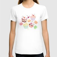 macaroon T-shirts featuring sweet pattern aka cake , cupcake and macaroon by Marta Olga Klara