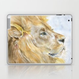 African Lion Watercolor Laptop & iPad Skin