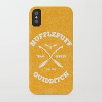 hufflepuff iPhone & iPod Cases featuring Hufflepuff Quidditch by Sharayah Mitchell