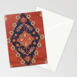 Southwest Tuscan Shapes I // 18th Century Aged Dark Blue Redish Yellow Colorful Ornate Rug Pattern Stationery Cards