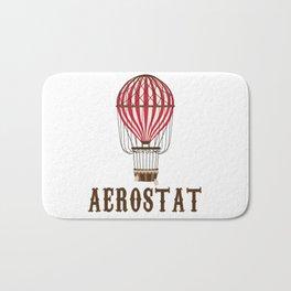 Retro Balloonist Hot Air Balloon Pilot Ballooning Vintage Gift Bath Mat