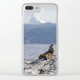 Sea lion near Ushuaia Clear iPhone Case