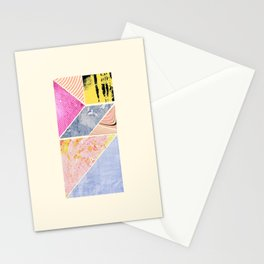 Collaged Tangram Alphabet - I Stationery Cards