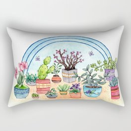 Household Plants Rectangular Pillow