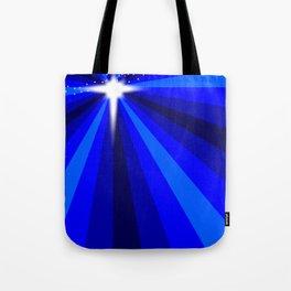 Blue Christmas Star Tote Bag