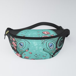 Teal Octopus Fanny Pack