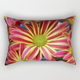 Striped Daisy Rectangular Pillow
