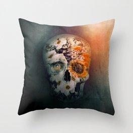 Skull Still Life II Throw Pillow
