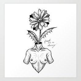 """Fresh As A Daisy"" Art Print"