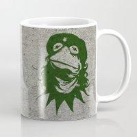 kermit Mugs featuring Viva la Frog! by 6amcrisis