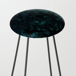 Stone Turquoise pattern Counter Stool