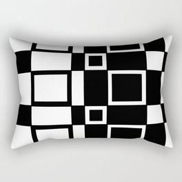 Chic Checkerboard Rectangular Pillow