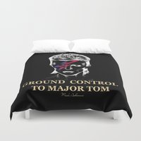 rowing Duvet Covers featuring music  by mark ashkenazi