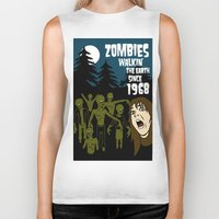 walking dead Biker Tanks featuring Walking Dead by grawiton