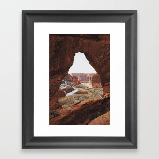 Window Rock Framed Art Print