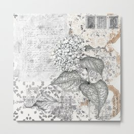 Hydrangea Collage Metal Print