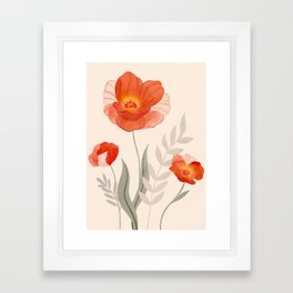 Summer Flowers II Framed Art Print