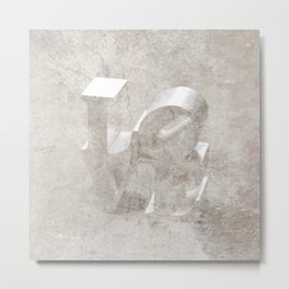 LOVE: STONE Metal Print