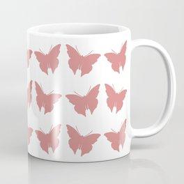 Turquoise Bold Mod Butterflies Coffee Mug