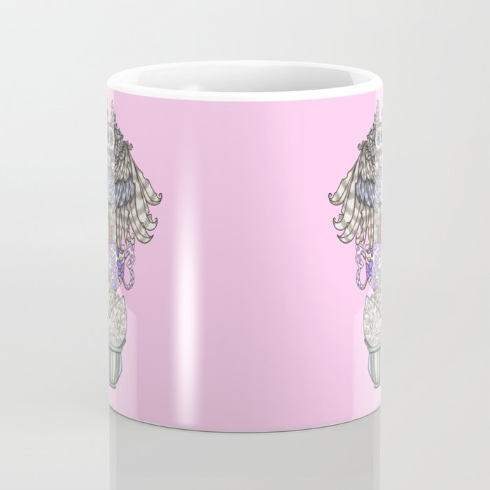 Owlice Wants Another Cup of Tea Pink Coffee Mug