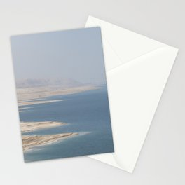 Overview of the Dead Sea - Israel travel photography Stationery Cards