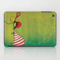 ballon iPad Cases featuring Ballon Man by Gokce Gurellier